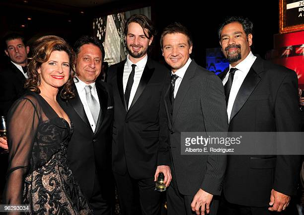Susan Fiore Executive Producer Tony Mark writer/producer Mark Boal actor Jeremy Renner and First Assistand Director David Ticotin in the audience...