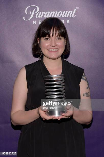 Susan Fowler poses backstage at The 22nd Annual Webby Awards at Cipriani Wall Street on May 14 2018 in New York City