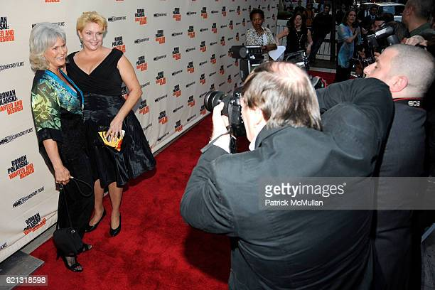 Susan Gailey and Samantha Geimer attend HBO Documentary Films' New York Premiere of 'ROMAN POLANSKI Wanted and Desired' at The Paris Theater on May 6...