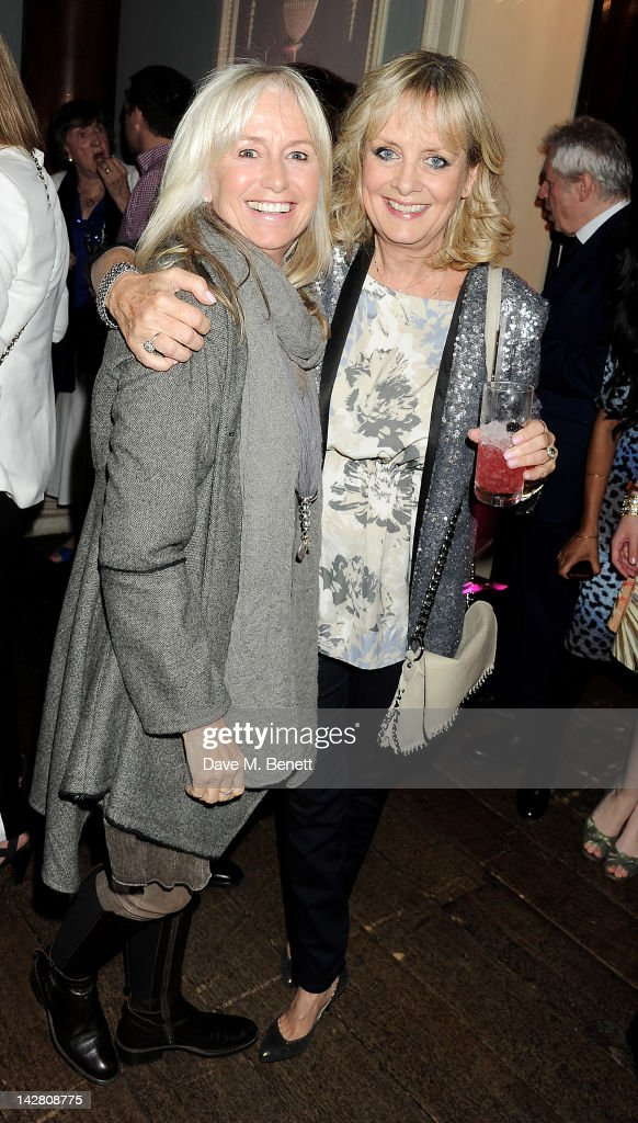 Susan George (L) and Twiggy attend a party celebrating the launch of Twiggy For M&S Women at Home House on April 12, 2012 in London, England.