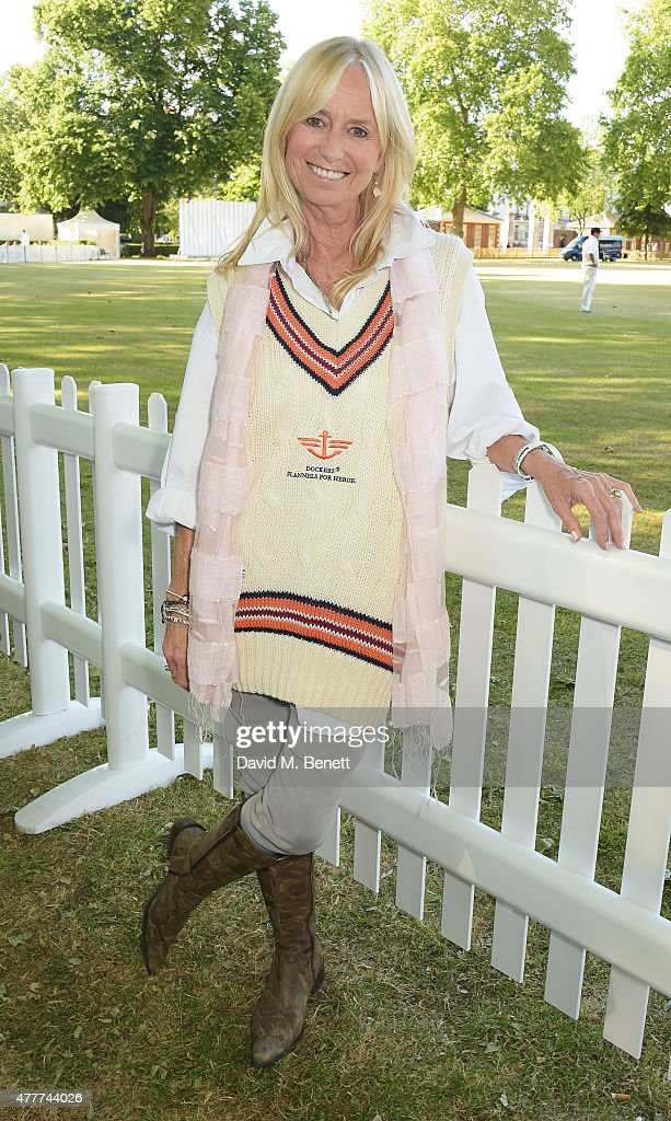 Susan George attends the Flannels for Heroes charity cricket match and garden party hosted by menswear brand Dockers at Burtons Court on June 19, 2015 in London, England.