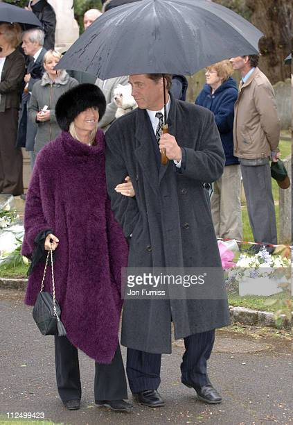 Susan George Simon MacCorkindale during Funeral of Actor Sir John Mills April 27 2005 at The Parish Church of Saint Mary the Virgin in Denham Great...