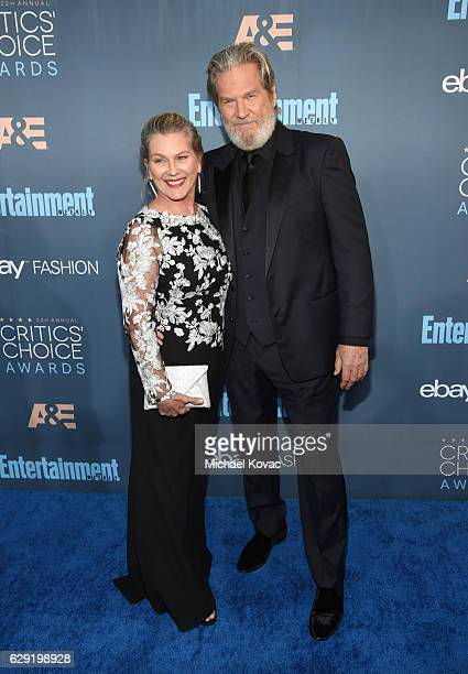Susan Geston and actor Jeff Bridges attend the 22nd annual Critics' Choice Awards with Porsche and the 2017 Panamera 4 EHybrid Executive at Barker...