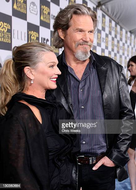 Susan Geston and actor Jeff Bridges attend the 25th Independent Spirit Awards Hosted By Jameson Irish Whiskey held at Nokia Theatre LA Live on March...