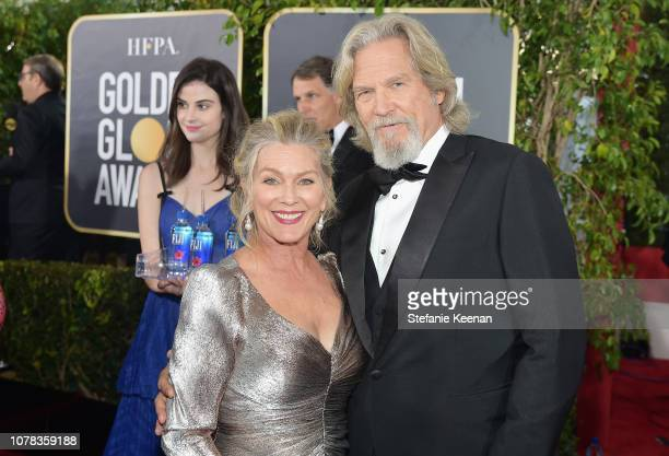 Susan Geston and Jeff Bridges attend FIJI Water at the 76th Annual Golden Globe Awards on January 6 2019 at the Beverly Hilton in Los Angeles...