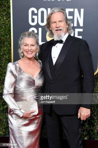 Susan Geston and Jeff Bridges attend the 76th Annual Golden Globe Awards at The Beverly Hilton Hotel on January 6 2019 in Beverly Hills California