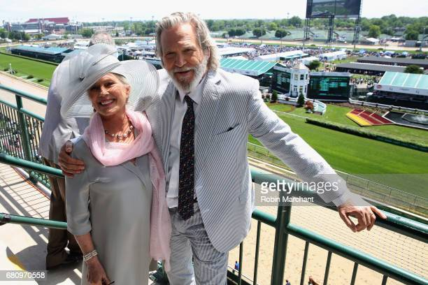 Susan Geston and Jeff Bridges Star Of The Upcoming Kingsman The Golden Circle attends The Kentucky Derby at Churchill Downs on May 6 2017 in...