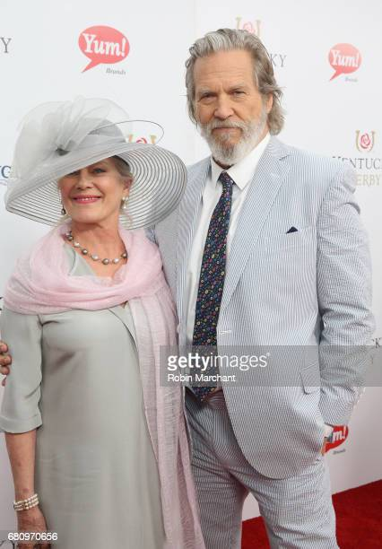 Susan Geston and Jeff Bridges Star Of The Upcoming 'Kingsman The Golden Circle' attends The Kentucky Derby at Churchill Downs on May 6 2017 in...