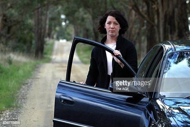 Susan Gillies pictured near her home north of Trafalgar is worried about the high fuel prices when living in the bush on 13th September 2005 THE AGE...