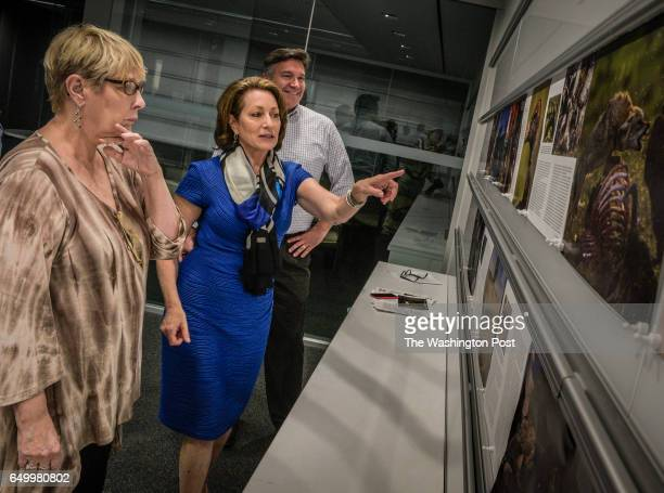 Susan Goldberg center Editorinchief of the National Geographic Magazine during a layout conference with editors on an upcoming issue The National...
