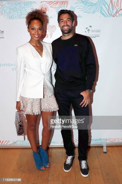 Susan Gossage and Jeremy Chardy attend the Legends Of Tennis Dinner as part of 2019 French Tennis Open at on June 05 2019 in Paris France