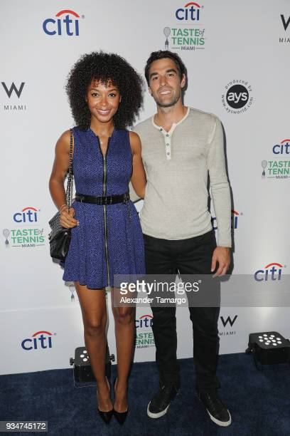 Susan Gossage and Jeremy Chardy attends the Citi Taste Of Tennis Miami 2018 at W Miami on March 19 2018 in Miami Florida