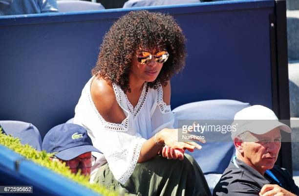 Susan Gossage tje wife of Jeremy Chardy the Barcelona Open Banc Sabadell on April 24 2017