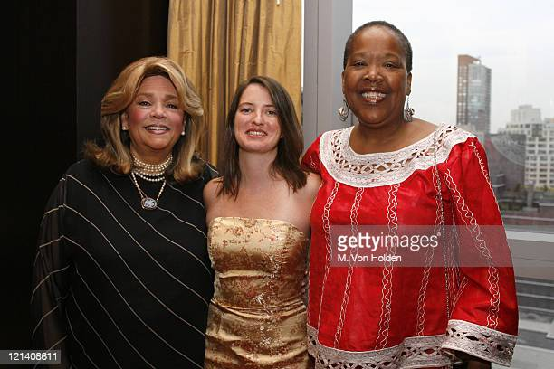 Susan Grode Margaret Chapman Jaribu Hill during Ms Foundation for Women's 18th Annual Gloria Awards at Mandarin Hotel in New York NY United States
