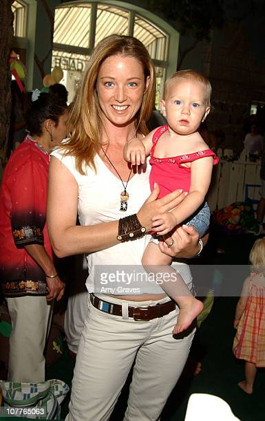 Susan Haskell and daughter McKenna during Connie Stevens Joely Fisher and Tricia Leigh Fisher Open Nana's Garden at Nana's Garden in Beverly Hills...