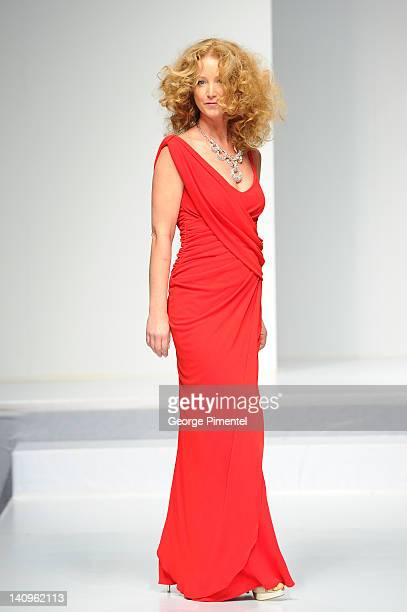 Susan Haskell walks the runway during the Heart Truth fashion show at The Carlu on March 8 2012 in Toronto Canada