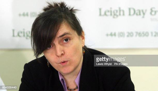 Susan Hawley from The Corner House at a press conference in London, after the Serious Fraud Office's decision to drop its investigation into alleged...