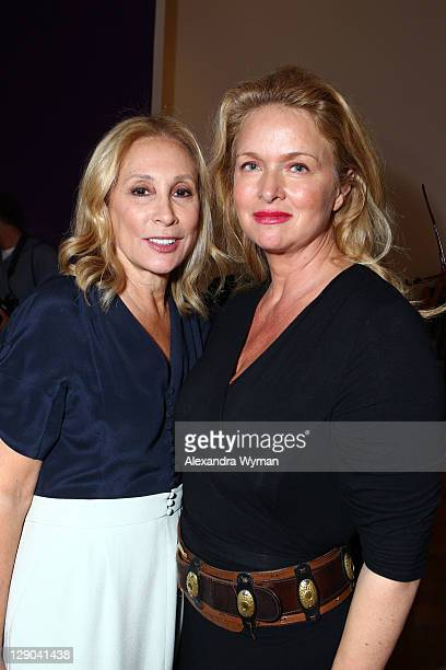 Susan Hess and Donna Dixon Aykroyd at Ladies' Luncheon hosted by Debra Black to Preview The Elizabeth Taylor Collection from CHRISTIE'S held at MOCA...