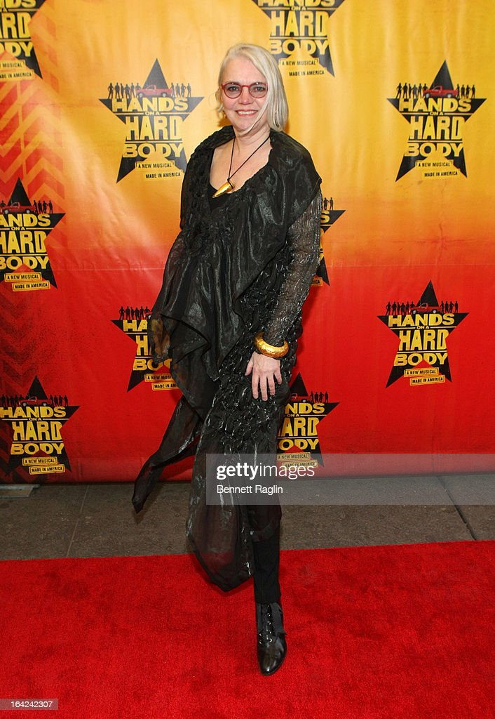 Susan Hilferty attends 'Hands On A Hard Body' Broadway Opening Night at The Brooks Atkinson Theatre on March 21, 2013 in New York City.
