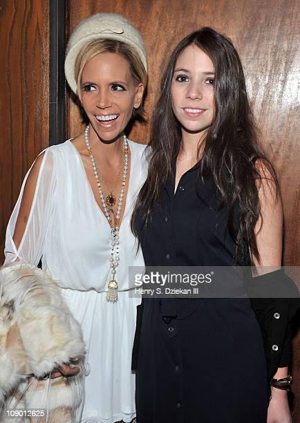 Susan Hilfiger and Elizabeth Hilfiger attend the Nahm Fall 2011 fashion show during MercedesBenz Fashion Week at Milk Studios on February 11 2011 in...