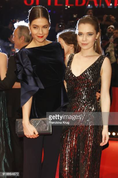Susan Hoecke and Farina Flebbe attend the Opening Ceremony 'Isle of Dogs' premiere during the 68th Berlinale International Film Festival Berlin at...