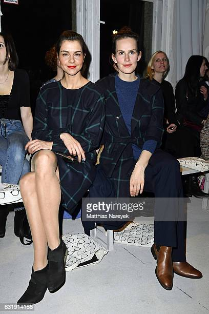 Susan Hoecke and Saralisa Volm attend the Hien Le show during the MercedesBenz Fashion Week Berlin A/W 2017 at Kaufhaus Jandorf on January 17 2017 in...