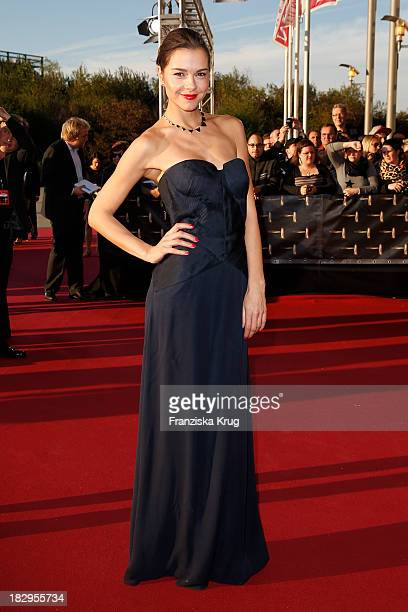 Susan Hoecke attends the Deutscher Fernsehpreis 2013 - Red Carpet Arrivals at Coloneum on October 02, 2013 in Cologne, Germany.