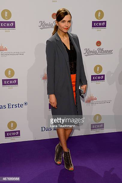 Susan Hoecke attends the Echo Award 2015 Red Carpet Arrivals on March 26 2015 in Berlin Germany