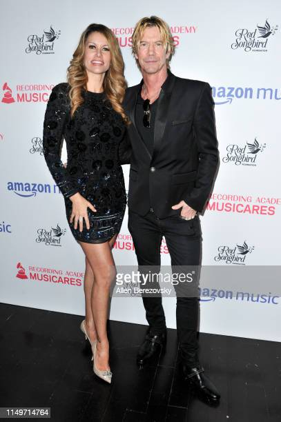 Susan Holmes and Duff McKagan attend the MusiCares Concert For Recovery presented by Amazon Music, Honoring Macklemore at The Novo by Microsoft on...