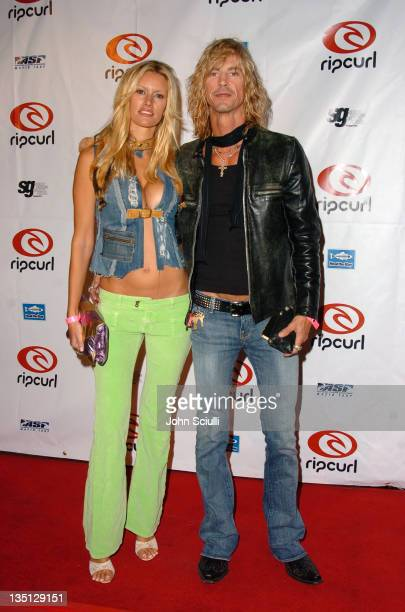 Susan Holmes and Duff McKagan during Rip Curl Presents 'Sand Glam' Benefiting Heal the Bay Arrivals and Red Carpet at Club 1650 in Hollywood...