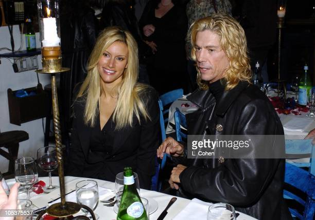 Susan Holmes and Duff McKagan Scott Weiland of Velvet Revolver and guests celebrate his birthday at a surprise party thrown by wife Mary Weiland The...