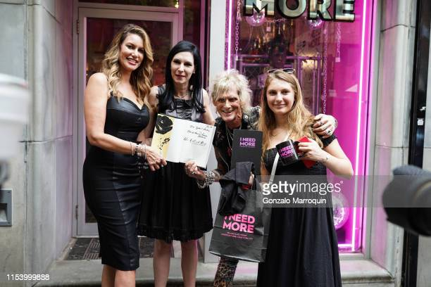 Susan Holmes – McKagan Jill Kargman Jimmy Webb and Ivy Kargman during the Mae McKagan Capsule Collection Launch At I NEED MORE on June 05 2019 in New...