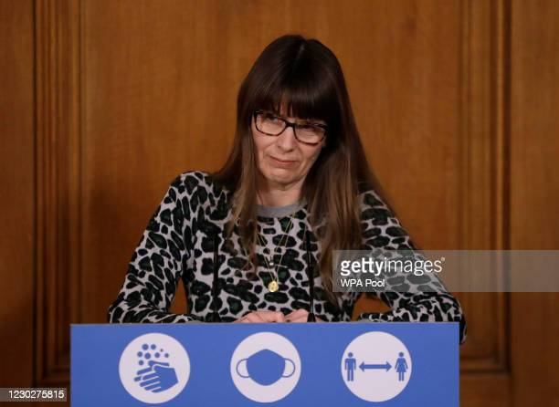 Susan Hopkins, Healthcare Epidemiologist Consultant in Infectious Diseases and Microbiology at Public Health England listens to a question from the...