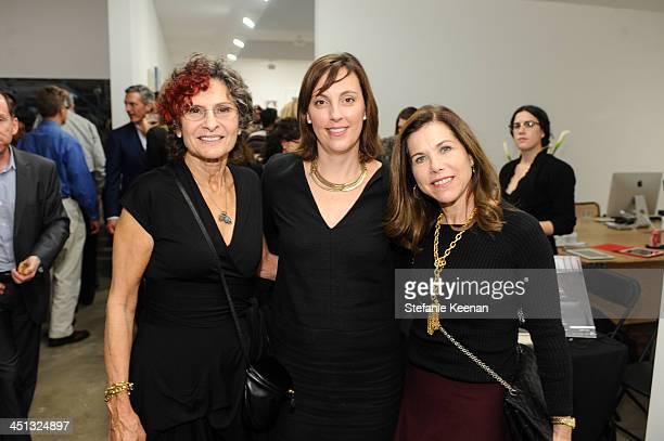 Susan Hort Jenny Miller and Noreen Herzog attend The Rema Hort Mann Foundation LA Artist Initiative Benefit Auction on November 21 2013 in Los...