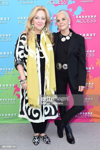 Susan Hull Walker and Ali Macgraw attend Hearst Magazines' Unbound Access MagFront at Hearst Tower on October 17 2017 in New York City
