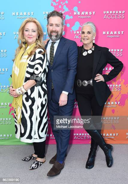 Susan Hull Walker Clinton Smith and Ali Macgraw attend Hearst Magazines' Unbound Access MagFront at Hearst Tower on October 17 2017 in New York City