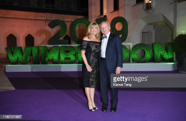 Susan Johnson and Rod Laver attend the Wimbledon Champions Dinner at The Guildhall on July 14 2019 in London England