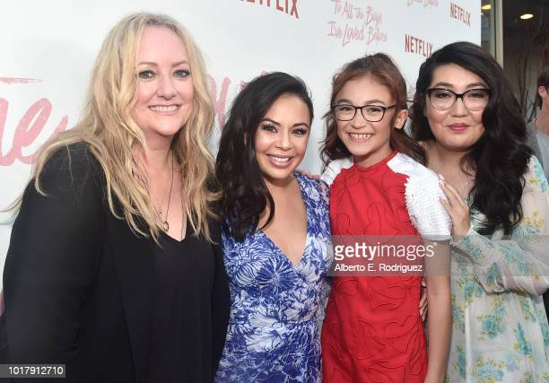 Susan Johnson Janel Parrish Anna Cathcart and Jenny Han attend a screening of Netflix's 'To All The Boys I've Loved Before' at Arclight Cinemas...
