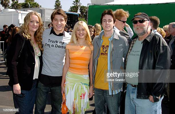 """Susan Johnson, Trevor Morgan, Carly Schroeder, Ryan Kelley, and Rick Rosenthal, recipients of a Special Distinction Award for """"Mean Creek"""""""