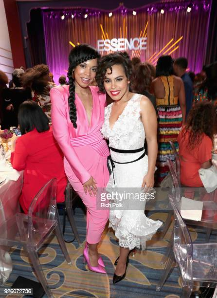 Susan Kelechi Watson and Amirah Vann attend the 2018 Essence Black Women In Hollywood Oscars Luncheon at Regent Beverly Wilshire Hotel on March 1...