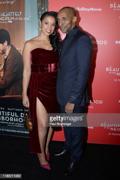 Susan Kelechi Watson and Jaime Lincoln Smith attend New York Special Screening Of A Beautiful Day In The Neighborhood at Henry R Luce Auditorium at...