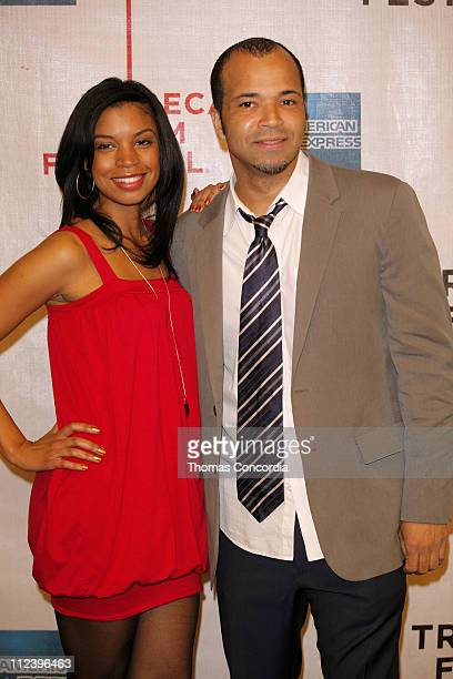 Susan Kelechi Watson and Jeffrey Wright during 6th Annual Tribeca Film Festival Blackout Premiere Arrivals at Pace University's Schimmel Center for...
