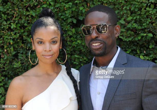 Susan Kelechi Watson and Sterling K Brown arrive at The Rape Foundation's Annual Brunch at a private residence on October 8 2017 in Los Angeles...