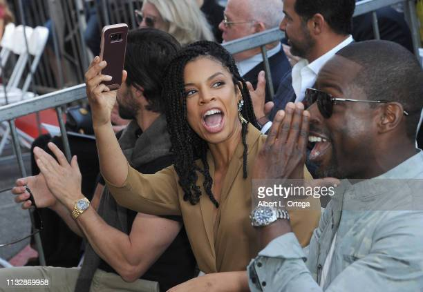 Susan Kelechi Watson and Sterling K Brown attend Mandy Moore's Star Ceremony on the Hollywood Walk of Fame on March 25 2019 in Hollywood California