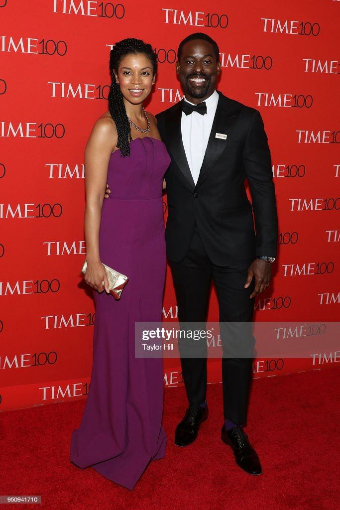 Susan Kelechi Watson and Sterling K. Brown attend the 2018 Time 100 Gala at Frederick P. Rose Hall, Jazz at Lincoln Center on April 24, 2018 in New York City.