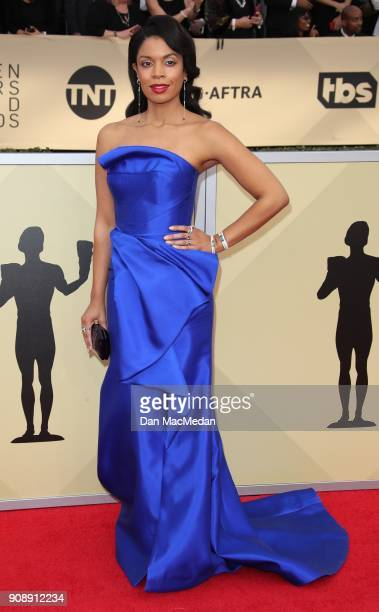 Susan Kelechi Watson arrives at the 24th Annual Screen Actors Guild Awards at The Shrine Auditorium on January 21 2018 in Los Angeles California