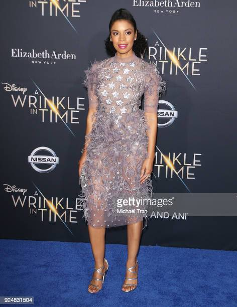 Susan Kelechi Watson arrives at the Los Angeles premiere of Disney's 'A Wrinkle In Time' held at El Capitan Theatre on February 26 2018 in Los...