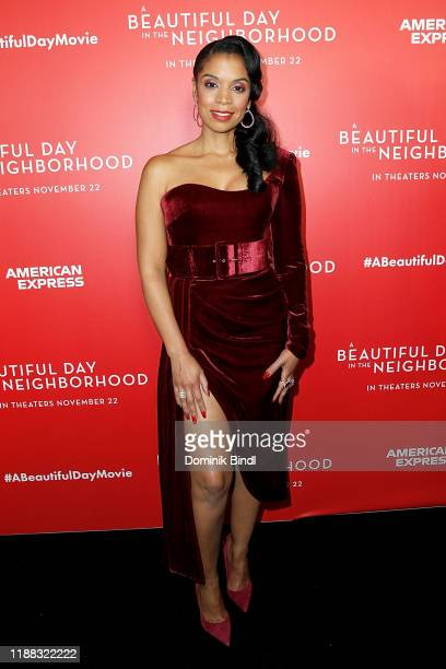 Susan Kelechi Watson attends A Beautiful Day In The Neighborhood New York Screening at Henry R Luce Auditorium at Brookfield Place on November 17...
