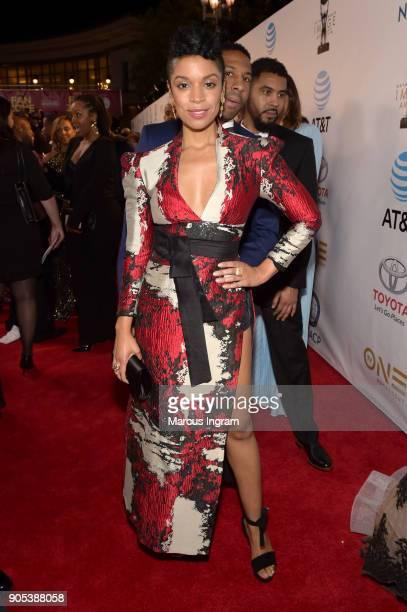 Susan Kelechi Watson attends the 49th NAACP Image Awards at Pasadena Civic Auditorium on January 15 2018 in Pasadena California