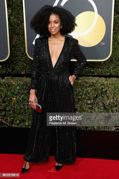 Susan Kelechi Watson attends The 75th Annual Golden Globe Awards at The Beverly Hilton Hotel on January 7 2018 in Beverly Hills California